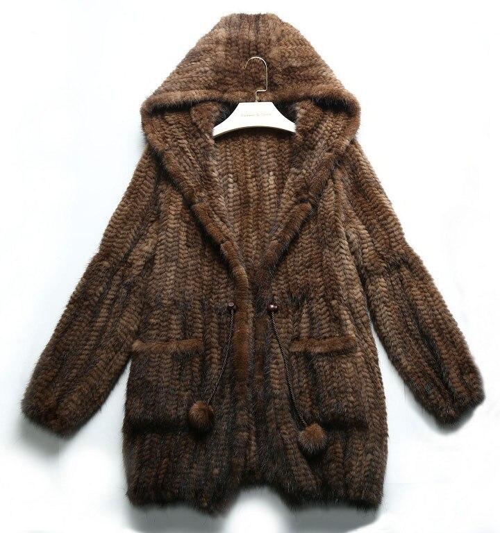 100%リアルミンクの毛皮コート生き抜くショールベストジャケット本物の毛皮ブレザー長袖プラスサイズ3xl 4xl 5xl 6xlブラウンブラックパーカー