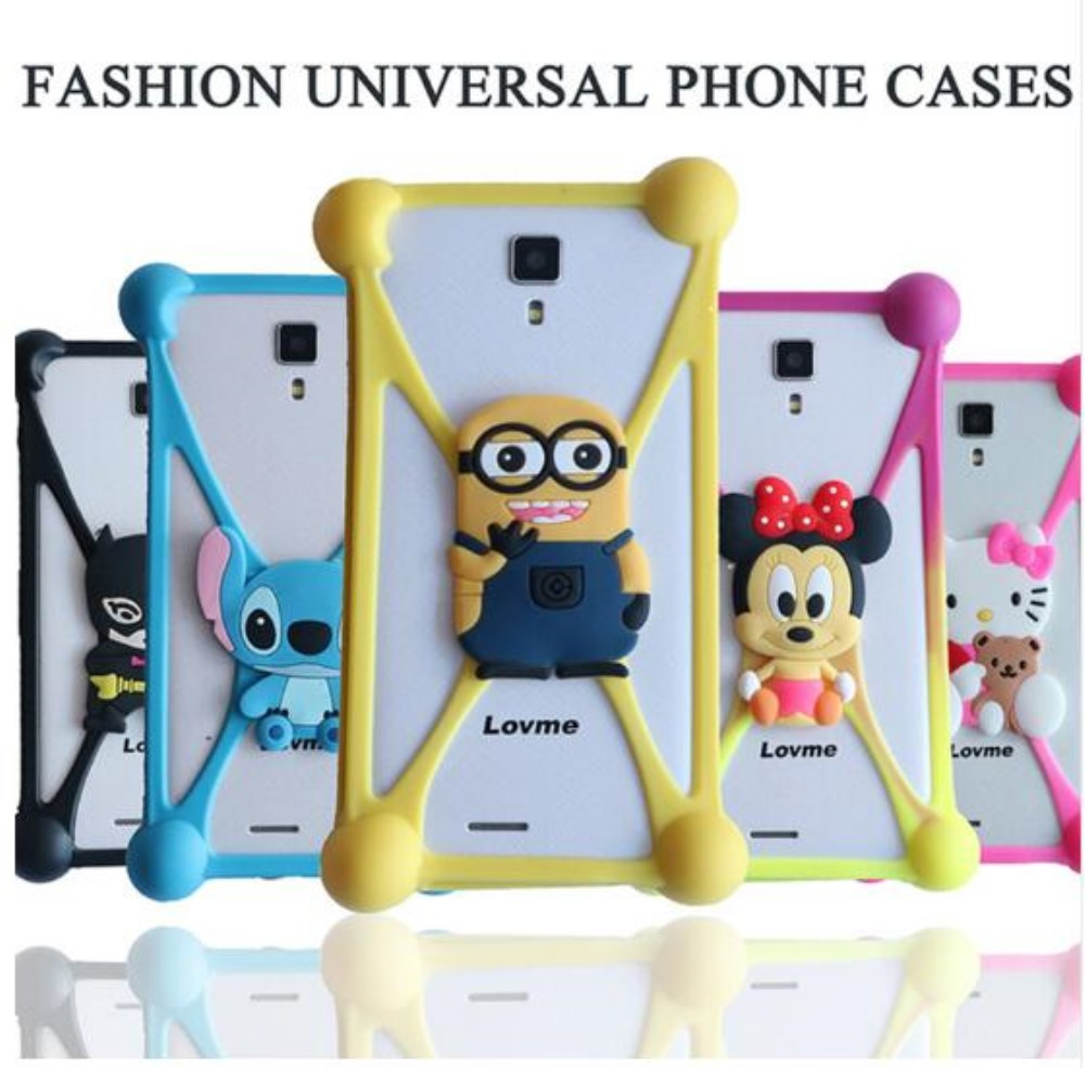 Cartoon Silicone Universal Cell Fundas Case For iPhone 6 7 Silicon Case For Samsung S8 Xiaomi Redmi 4 Pro Mi5 4C Huawei Honor
