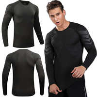 Long Sleeve Running Shirt Men Training Sports T-shirt Elastic Tight Jersey Fitness Gym Workouts Clothes Compression Men Long