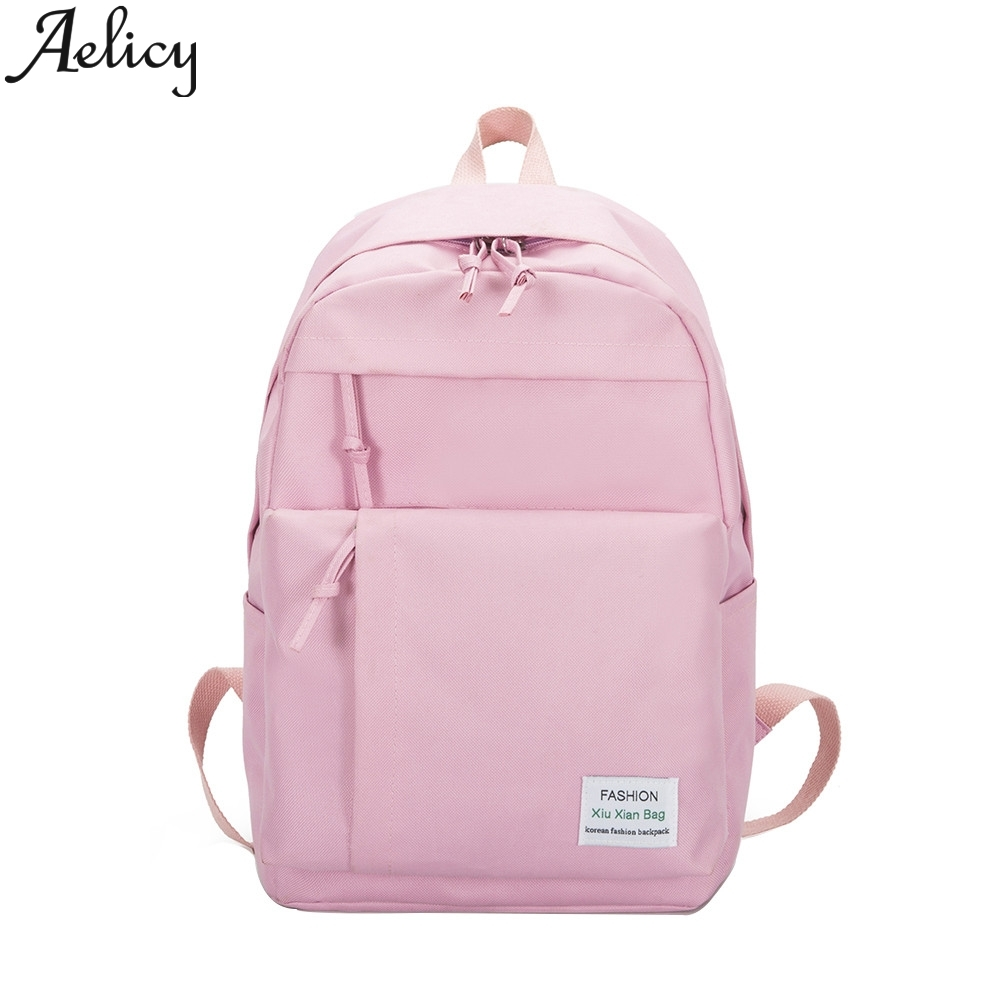 Aelicy 2019 Nylon Oxford Cloth Backpack Women Backpack College Wind Leisure Travel Ladies Shoulder Bags School Bags For Teenage
