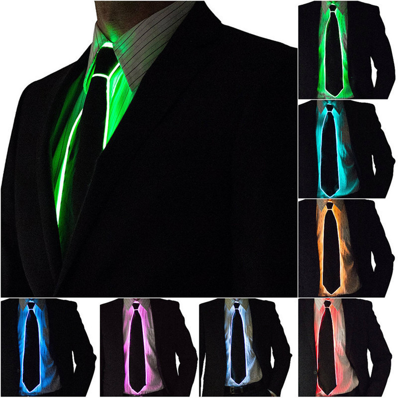 NEW Design Light 10 Color EL Tie Light Up LED Tie glowing For Party Decoration,DJ,bar,club cosplay Show By 3V Steady on Driver