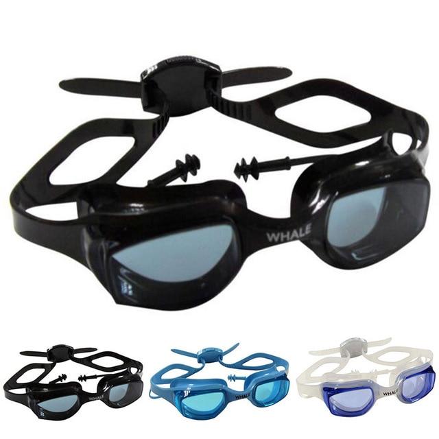 a22b8480f7da Professional Anti-Fog UV Waterproof Swim Goggles With Diving Earplugs  silicone swim glasses for Men Women Adults Sport Eyewear
