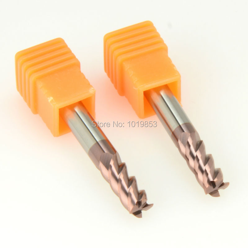 SLONS S300-8*8*100L HRC55 tungsten solid carbide end mill for CNC milling machine