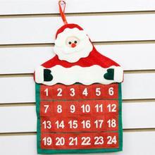 Christmas Decorations Santa Claus Calendar Hotel Lobby Family Pendant 10.9