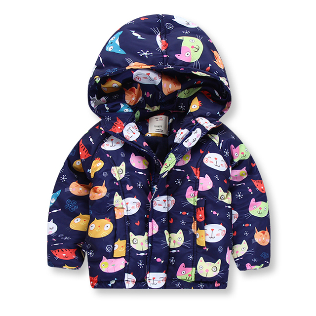 b33c4bda185df New 2017 Winter Kids Jackets   Coats Thicken Girls Hooded Girl Warm  Outerwear Animal Printing Children s