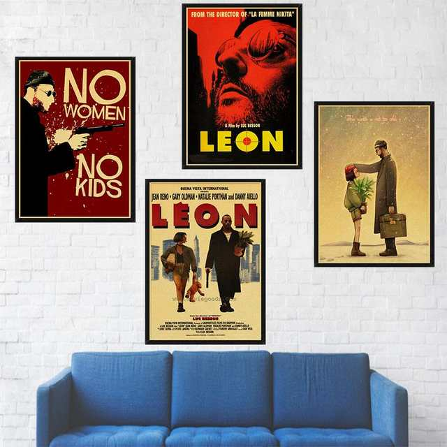 Leon Classic Film Poster The Professional Poster Home Decor Vintage Poster  Retro Kraft Paper Print Wall