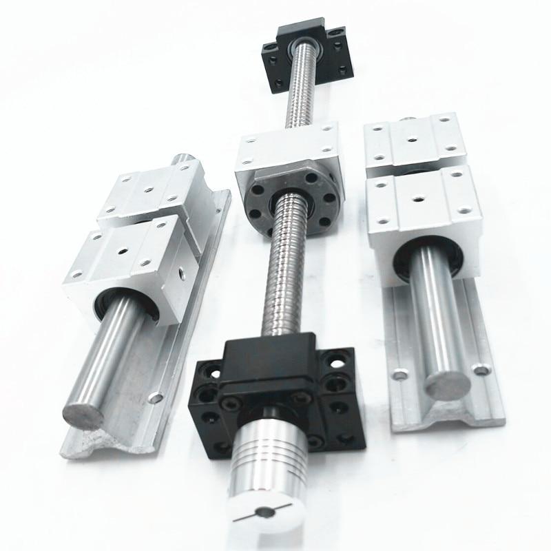 6 sets linear rail SBR16 L300/1200/1200mm+4 SFU1605-300/1200/1200/1200mm ball screw+4 BK12/BF12+4 DSG16H nut+4 Coupler for cnc 1200