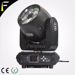 6x40W LED Zoom oświetlenie z ruchomą głowicą RGBW 4 36 stopni in/out powiększanie lampy z ruchomą głowicą Dj/Disco/Band Deco Light w Oświetlenie sceniczne od Lampy i oświetlenie na