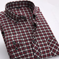 Flannel Plaid Shirt  Men 2017 New Arrival Mens Fashion Brand Regular Fit Casual Shirt Long Sleeve Thick Cotton Male Dress Shirt
