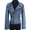 Revestimento das mulheres 2015 Nova Primavera Chegada Outwear Jaqueta Jeans Senhoras Denim Fino Curto Para Baixo Casacos
