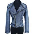 Women Coat 2015 New Arrival Spring Outwear Jeans Jacket Ladies Denim Slim Short Down Jackets