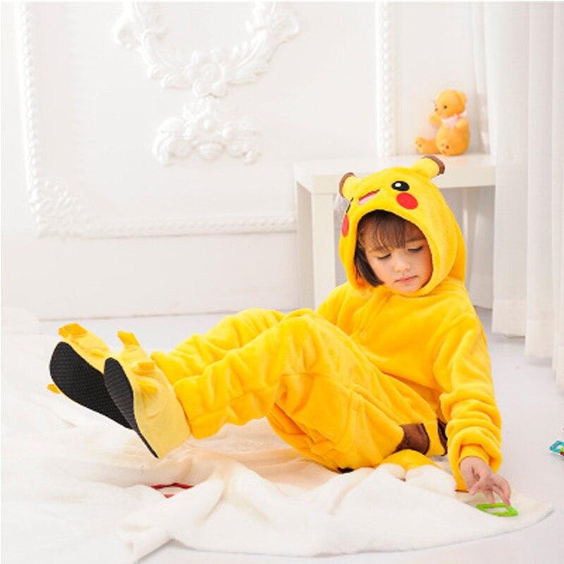 Pokemon Pyjamas Kids Onesie Cosplay Cartoon Girls Pajamas Flannel Boys Sleepwear Adult Adolescent Children's Pajamas Pikachu