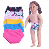 Free shipping Doll clothes 2pcs/lot Underwear for 43cm baby born zapf 16-18 inch American Girl Doll accessories toys gifts