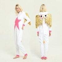 NEW 2018 Fashion Tops Beautiful Unicorn Onesie Animal Pajamas Adult Children Sleepwear Kigurumi Cosplay Christmas Halloween