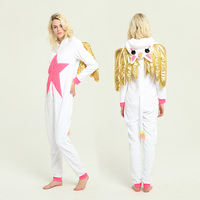 NEW 2018 Fashion Tops Beautiful Unicorn Onesie Animal Pajamas Adult Children Sleepwear Kigurumi Cosplay Christmas Halloween