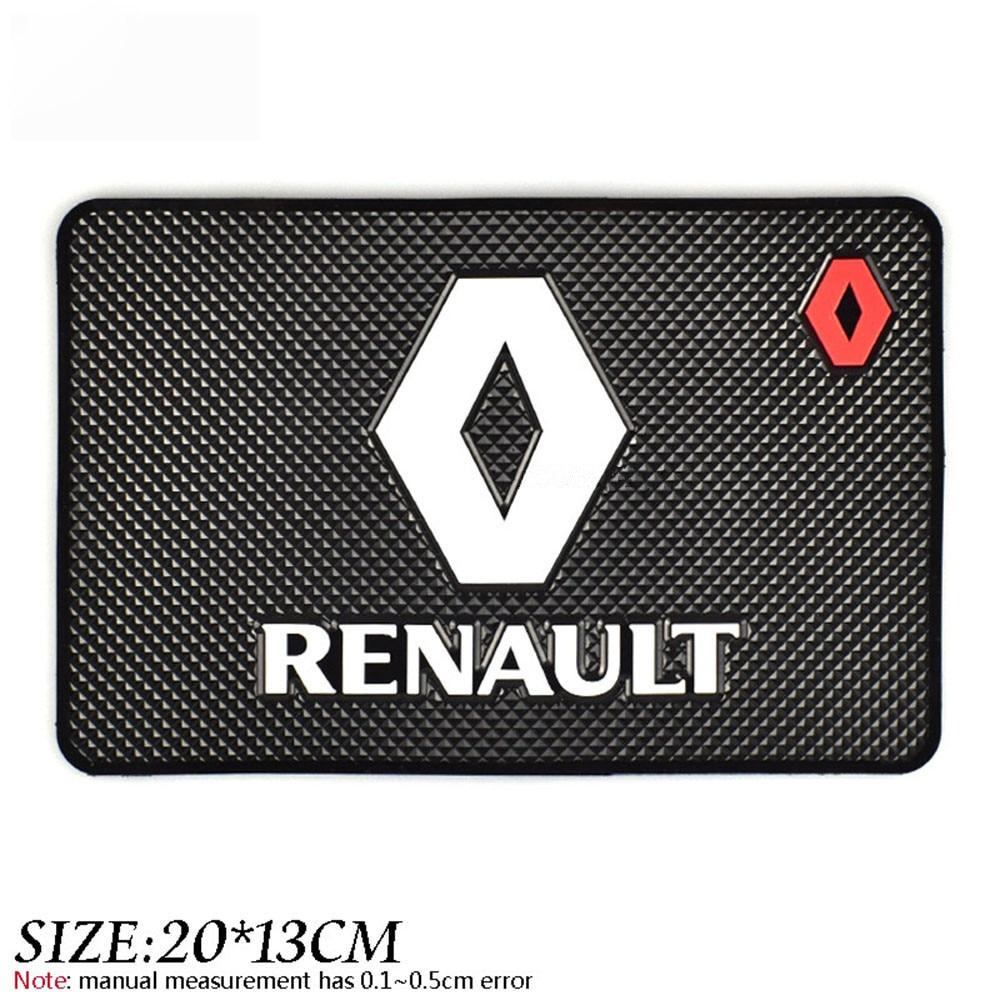 Slip-Resistant Gel Pad Phone Holder Car Gadget Mats Accessories Emblem Logo Anti Slip Mat For  For Renault 2 Button Clio Scenic gadget