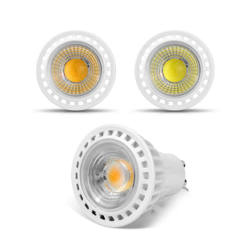 High Quality GU10 LED Bulb 110V 220V 3W 5W 7W Dimmable led lamp COB LED Spot light Aluminum AC85V-265V Spotlight home lighting
