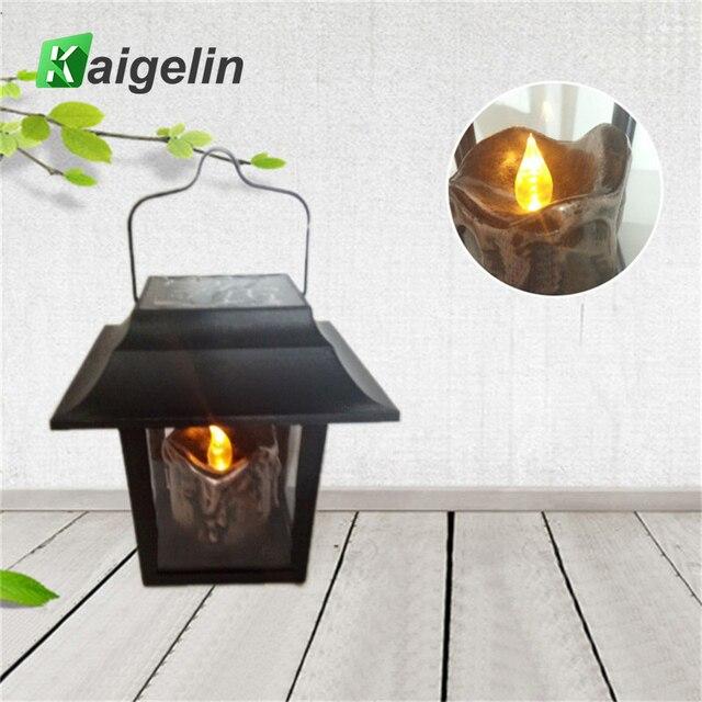Kaigelin Solar LED Pfad Lampe Archaistic Antique Candle Lichter Hof ...
