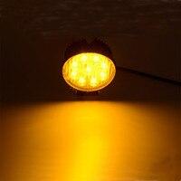 Honzdda 1 PZ 4 Pollici 27 W Rotonda Ambra Led Nebbia Luce del Lavoro 12 V 24 V Emergenza Strobe Flash Attenzione Luce per Moto Camion ATV 4x4