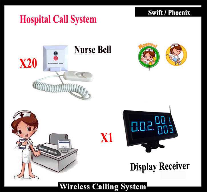 Whole Set Of Emergency Call Button And Display For Medical Alert System