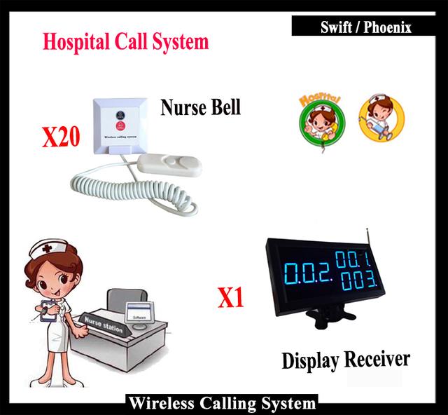 Todo o Conjunto De Botão De Chamada de Emergência E de Exibição Para O Sistema de Alerta Médico