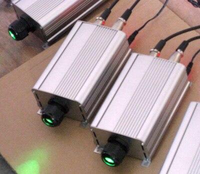 Moteur à fibre optique DMX RGB 9 W LED, avec télécommande; entrée AC85-260V; entrée de signal dmx512