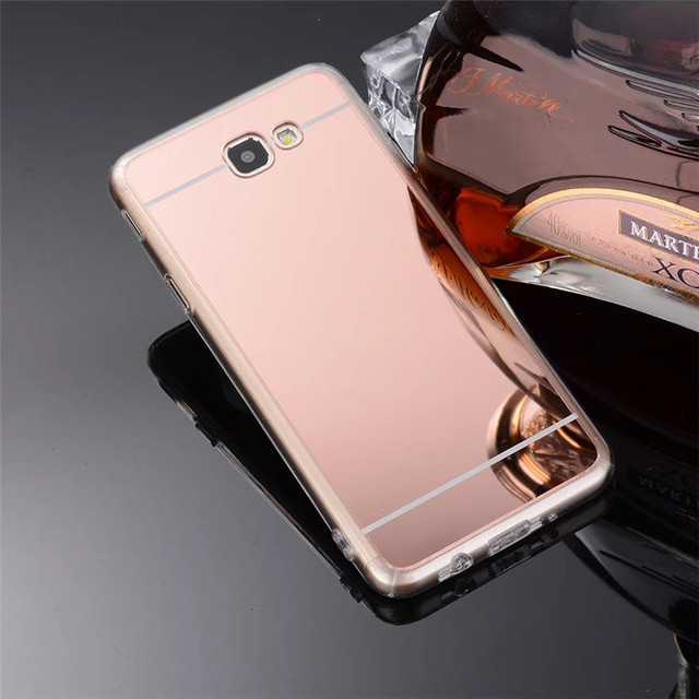 buy luxury rose gold soft tpu mirror case for samsung galaxy j7 prime on7 2016. Black Bedroom Furniture Sets. Home Design Ideas