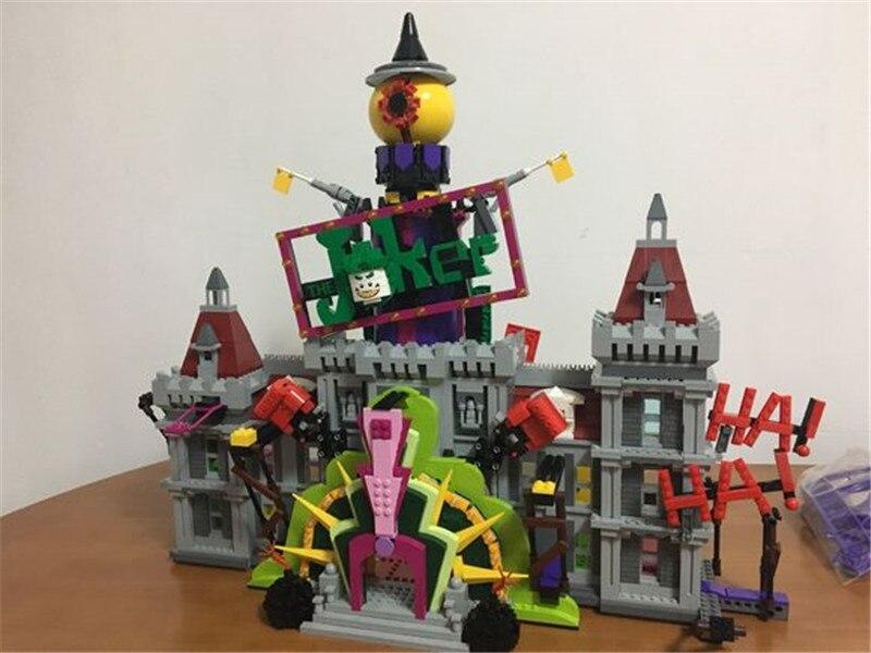 The Joker`s Manor Set 3857Pcs Super Hero Series Lepins Building Blocks Bricks Christmas Children Boy's Gift DIY Toys loz mini blocks batman robin ironman thor loki harley quinn poison mini super hero bricks diy building blocks toys gift
