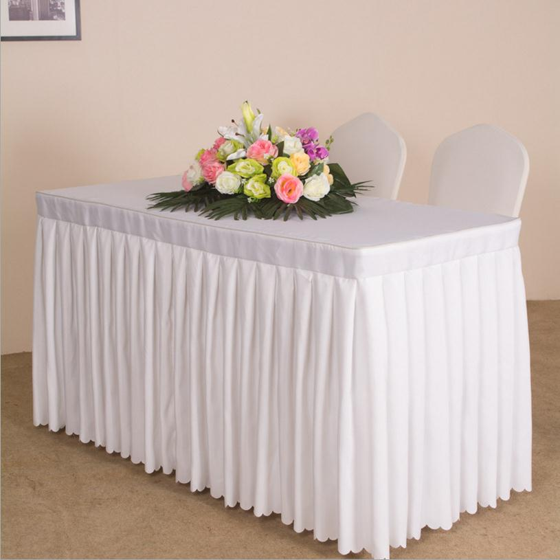Custom Rectangle Conference Table Cover Sing Table Skirts Event Party  Tablecloth Booth Setting Cloth Multi