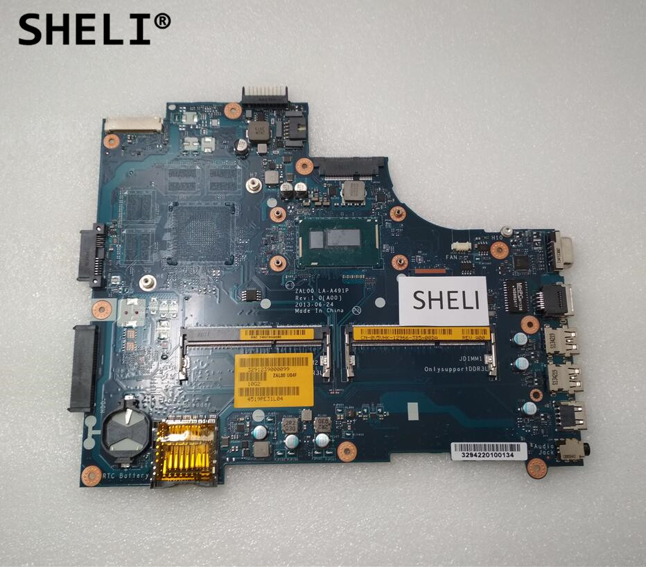 SHELI CN-0V5VHK 0V5VHK V5VHK For <font><b>Dell</b></font> <font><b>3540</b></font> Motherboard with I5-4300U LA-A491P image