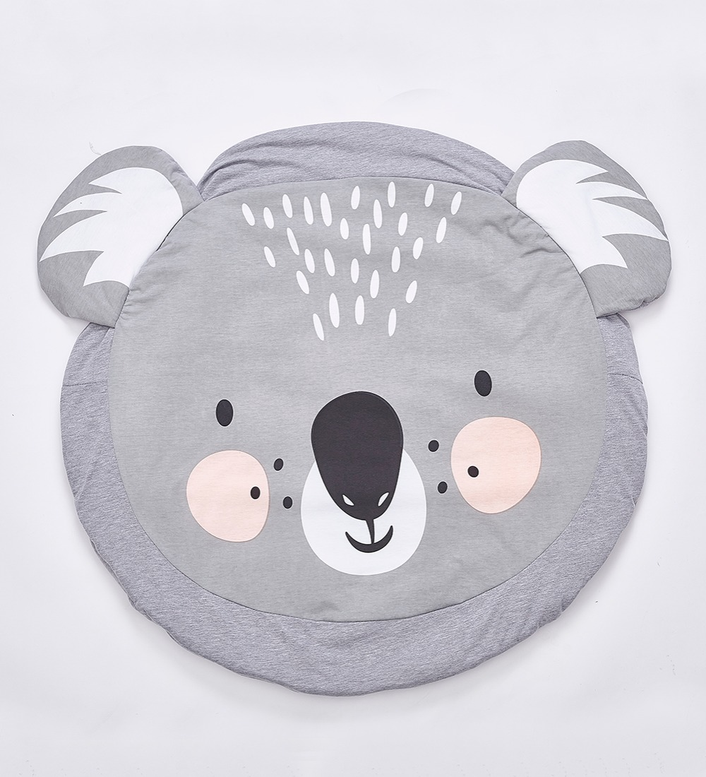 HTB1syfeKeuSBuNjSsplq6ze8pXa3 Cartoon Animals Baby Play Mat Foldable Kids Crawling Blanket Pad Round Carpet Rug Toys Cotton Children Room Decor Photo Props