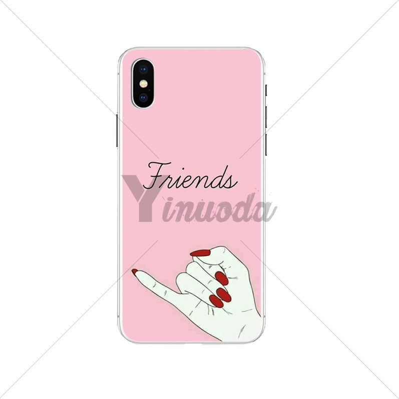 Yinuoda mejores amigos Coque caja del teléfono Shell para iPhone 7 7 más 5 5Sx 6 8 8 plus X XS X MAX XR cubierta