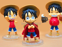 Free Shipping 12cm high, One Piece After 2 Years Luffy,PVC Action Figure, Collection Model Toy (3pcs per set)