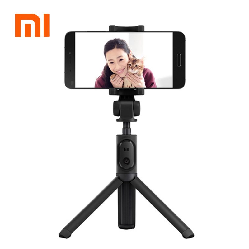 In Magazzino! xiaomi portatile mini treppiede 3 in 1 autoritratto monopiede telefono selfie stick bluetooth wireless di scatto remoto nero