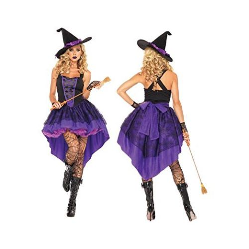 Halloween Costumes Witch Costume For Women Adult Adulto Fantasia Dress Hat Cosplay Clothing for Woman Carnival Dovetail