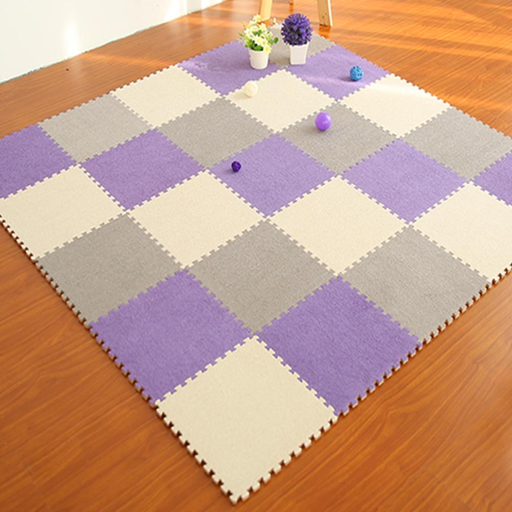 Colourful Puzzle Mat Eva Foam Shaggy Carpet Doormat