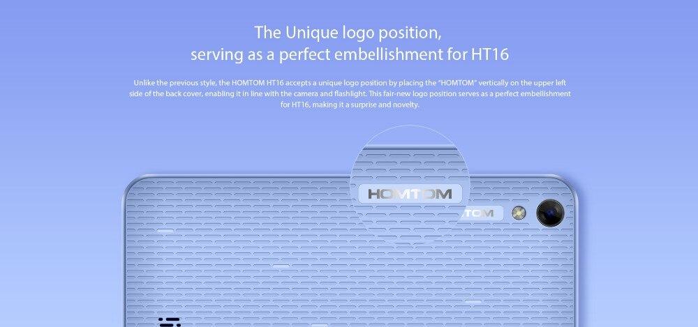 2016 מקורי חדש HOMTOM HT16 MT6580 Quad Core 13.GHz אנדרואיד 6.0 1280*720 5.0