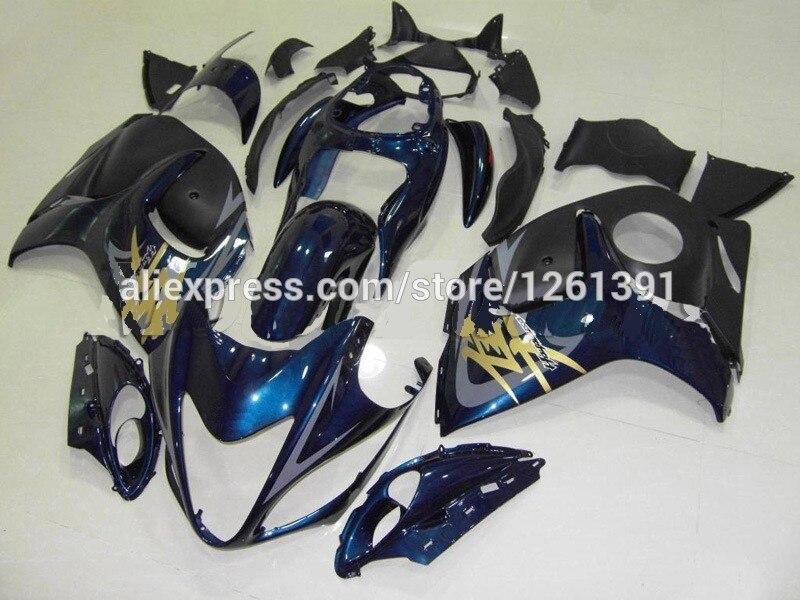 Подходит инъекции темно-синие Обтекатели для Suzuki hayabsa GSXR1300 08 09 GSX-R1300 GSXR 1300 2008 2009 украшения для мотоцикла AA