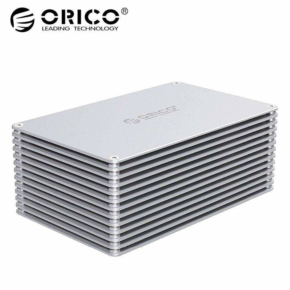 ORICO HDD случае USB3.0 DIY Полые 2,5/3,5 дюймов жесткий диск Алюминий сплава с 12 В ЕС Питание Поддержка 20 ТБ Ёмкость