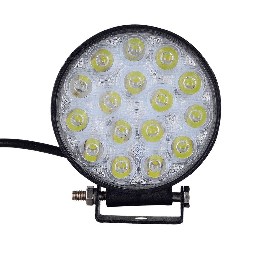 2PCS 48W LED WORK LIGHT for Indicators 12V 24V OFF ROAD 16*3W TRUCK MOTORCYCLE ATV FOG LAMP Working DRIVING LIGHT BULBS