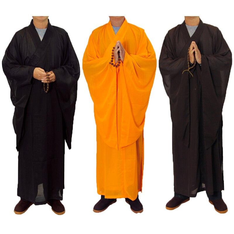 3 Kleuren Zen Boeddhistische Gewaad Lay Monk Meditatie Gown Monnik Training Uniform Pak Lag Boeddhistische Kleding Set En Digestion Helping