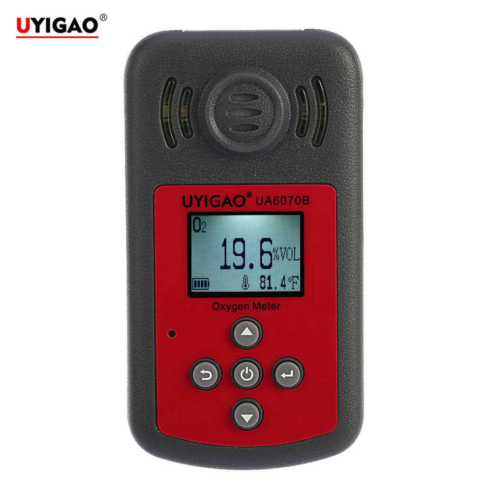 Handheld Portable Automotive Mini Oxygen Meter O2 Gas Tester Monitor Detector with LCD Display Sound and