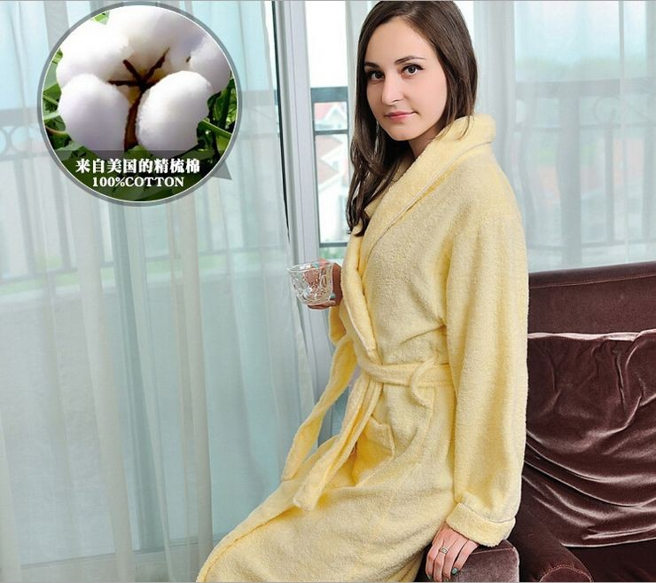 Women\'s Mid-Calf Cotton Sleep Lounge Robes RBS-D RB22 2