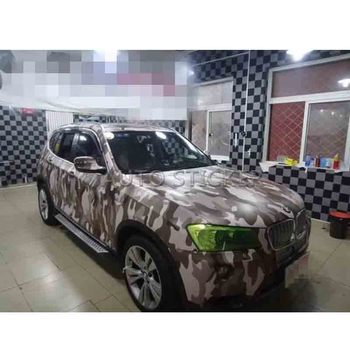 5/10/15/20/25/30m*1.52m Coffee Brown Camo Vinyl Car Wrap Snow Camouflage Film with air free for boat / Truck Vehicle