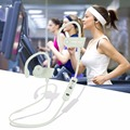 Correr Gimnasio Inalámbrica Bluetooth 4.1 Deportes Auriculares Estéreo de Auriculares de Música blanca