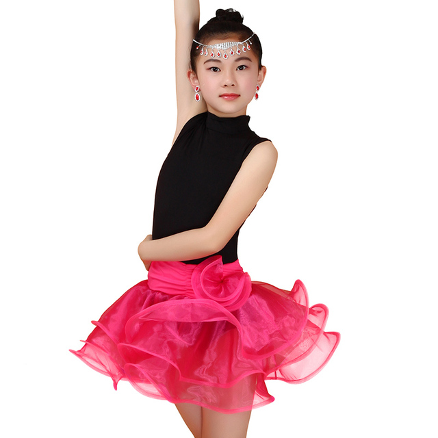 f884705e385e4 Junior Latin Dance Dress Girls Standard Ballroom Dance Competition Dresses  Sleeveless American Salsa Dancing Clothes Latino