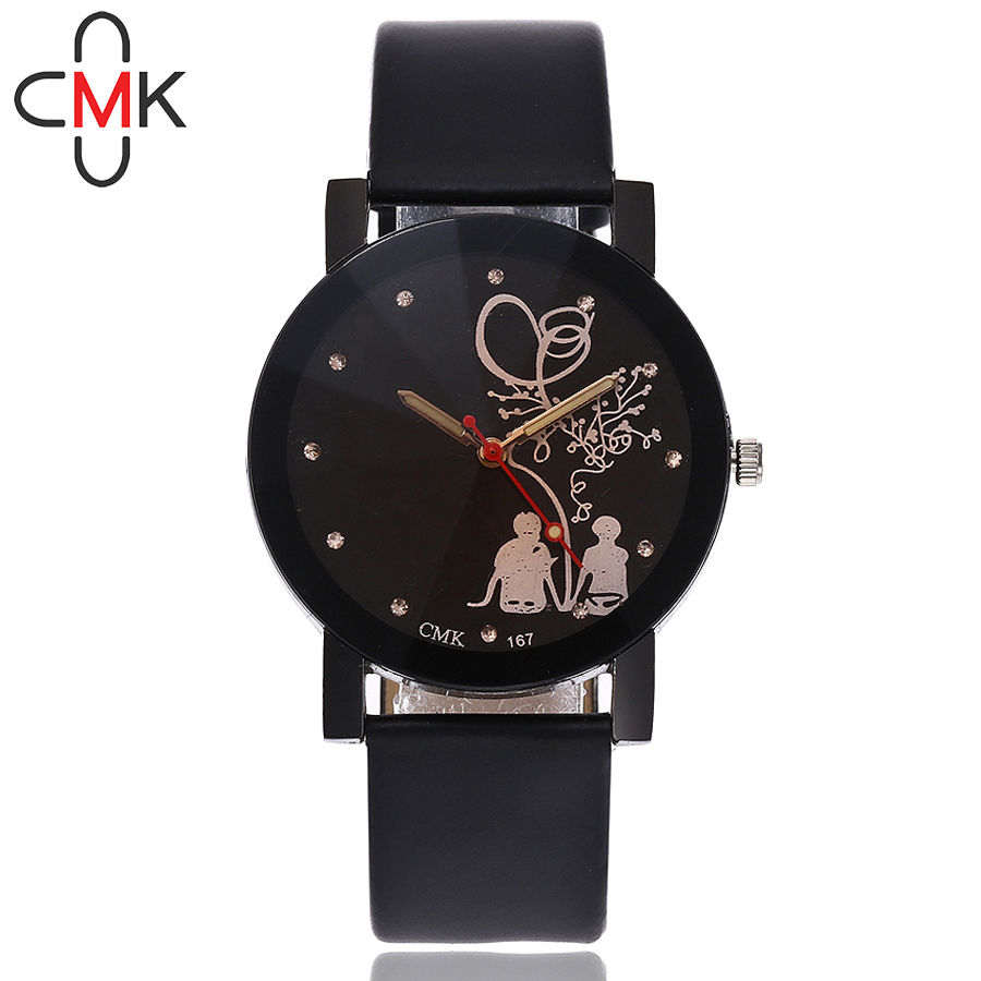 CMK Lover's Watch Top Brand Luxury Quartz Watch Fashion Casual Women Leather Wrist Watch Reloj Mujer