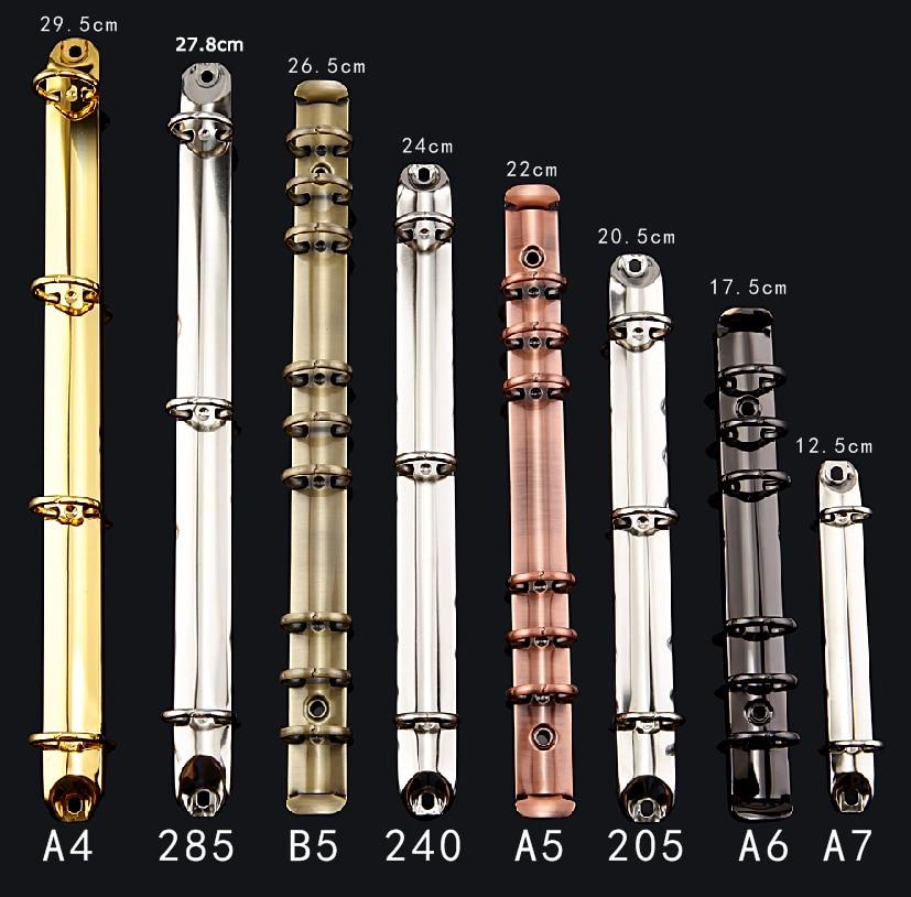 285 240 205 A4 A5 A6 A7 B5 Metal Spiral Binder Clip, 2 3 4 6 9 20 26 Rings Notebook Folder Diy Loose Leaf Binder Highly Polished
