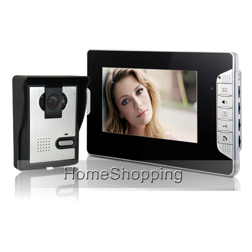 "FREE SHIPPING Cheap 7"" Video Intercom Home HD Door Phone System 1 Monitor 1 Night Vision Sony Doorbell Camera In Stock Wholesale"