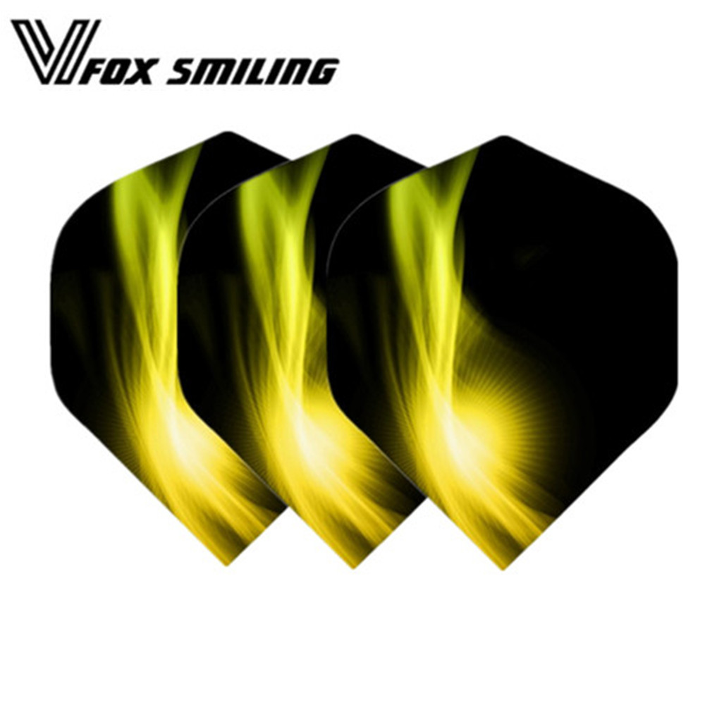 30PCS Darts Flights Wing For Professional Darts Wing Tail Cool Pattern Dart Accessories Yellow